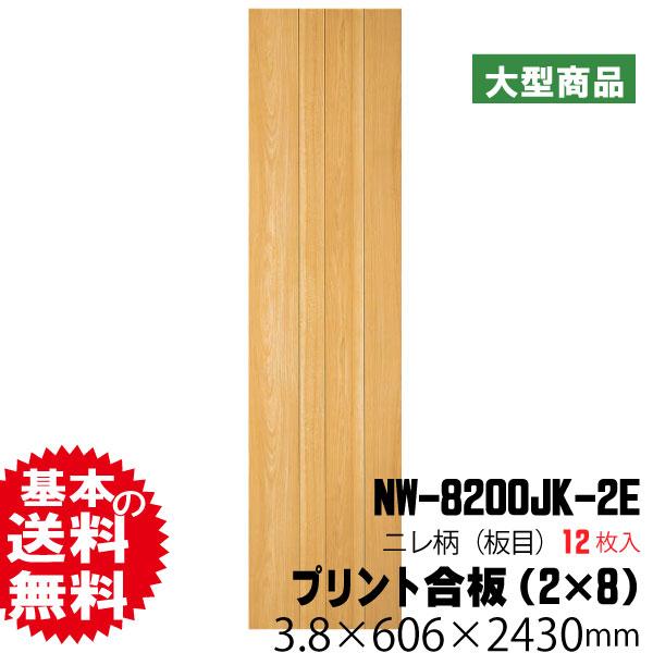 天井・壁用プリント合板 ネオウッド NW-8200JK(12枚入)(B品)