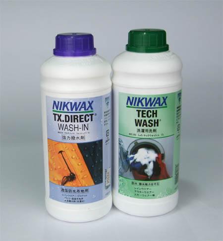 ニクワックス/NIKWAX【透湿防水生地専用撥水剤・洗剤セット】1リットル