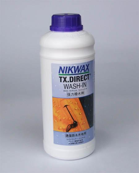 ニクワックス/NIKWAX透湿防水生地専用撥水剤【TX.ダイレクトWASH-IN】1リットル