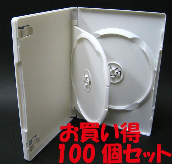 標準サイズ/15mm厚に2枚収納/フリップタイプMロックトールケース ホワイト 100個