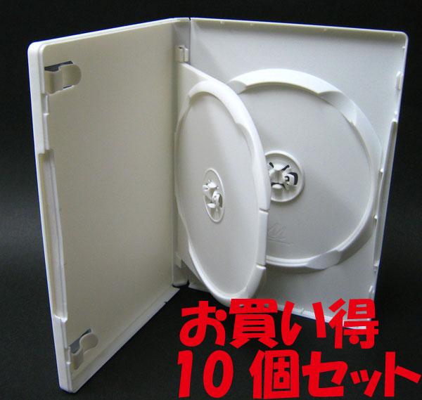 標準サイズ/15mm厚に2枚収納/フリップタイプMロックトールケース ホワイト 10個
