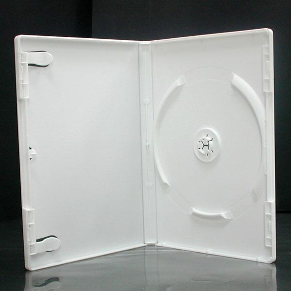1枚収納 DVDトールケース ホワイト 1個