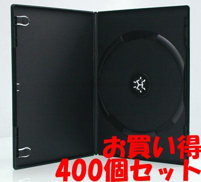 DVDスリムトールケース ワンプッシュ シングル ブラック 400個