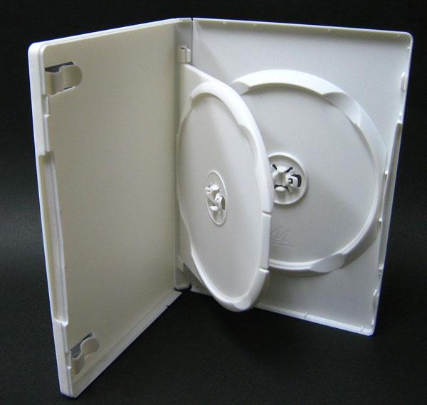 標準サイズ/15mm厚に2枚収納/フリップタイプMロックトールケース ホワイト 1個