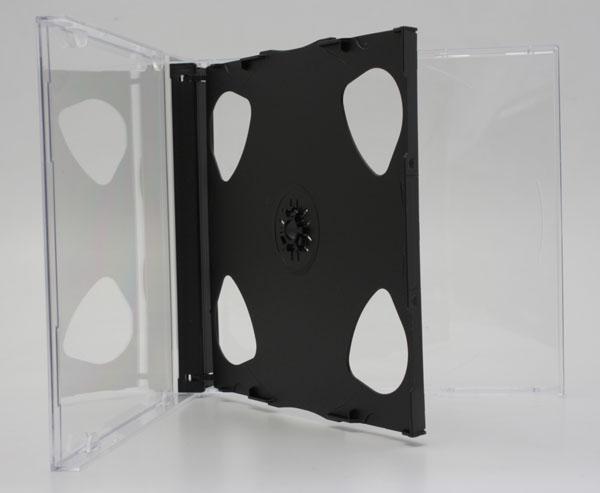 10mm厚2枚収納PSマルチメディアケース ブラック 1個