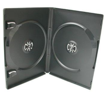 ポップマンボウ DVDトールケース ブラック 2枚収納 1個