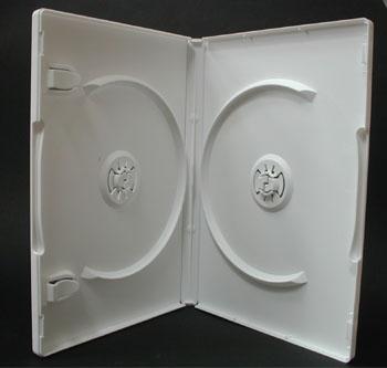 ポップマンボウ DVDトールケース ホワイト 2枚収納 1個
