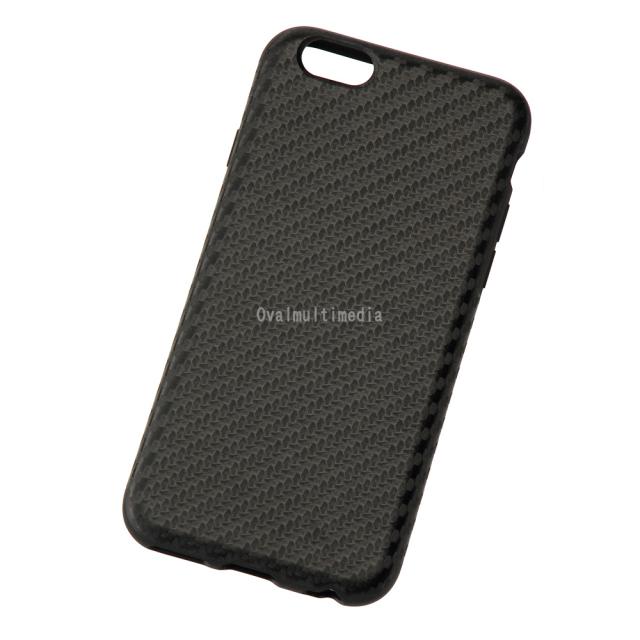 iPhone6用しなやかなカーボン調ケース ブラック
