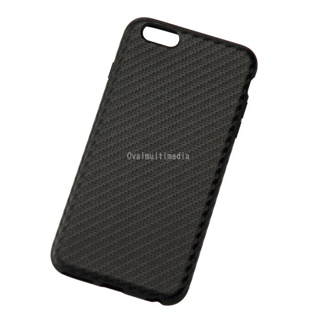 iPhone6Plus用しなやかなカーボン調ケース ブラック