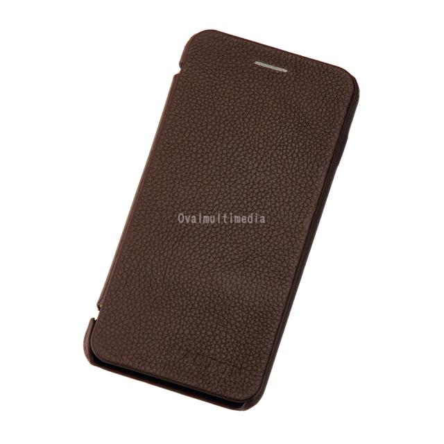 iPhone6用フリップケース 横 ブラウン