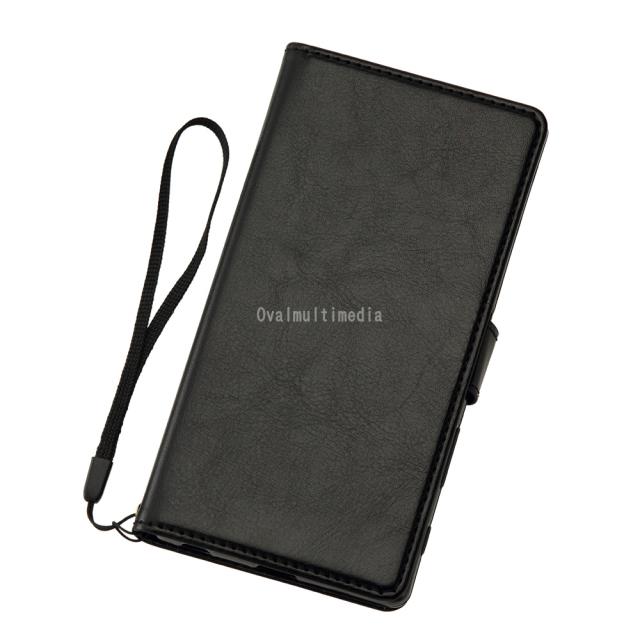 Xperia Z5 Premium用手帳型ケース ブラック