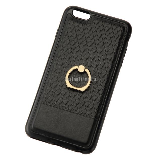 iPhone6sPlus用リングケース ブラック