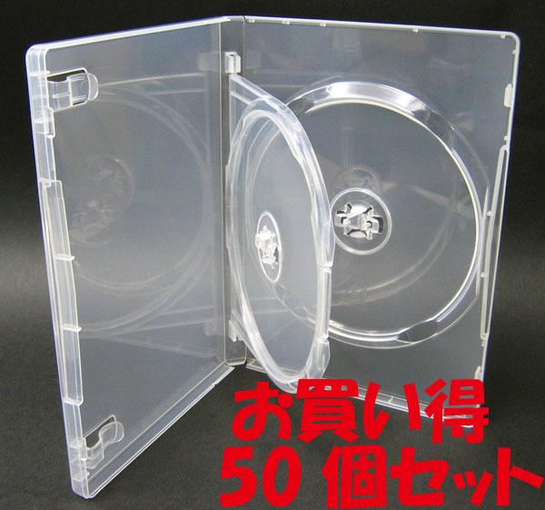 標準サイズ/15mm厚に2枚収納/フリップタイプMロックトールケース クリア 50個