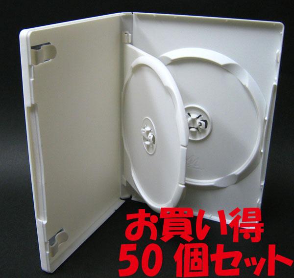 標準サイズ/15mm厚に2枚収納/フリップタイプMロックトールケース ホワイト 50個