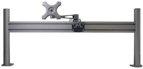 レール式LCDアーム ロング【基本セット レールと4軸ロングアームのセット】