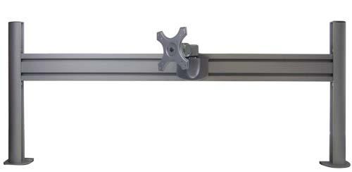 レール式LCDアーム ショート【基本セット レールと2軸ショートアームのセット】