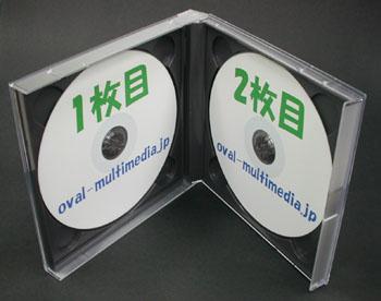 17mm厚2枚収納ジュエル【DUOケース ブラック 1個】