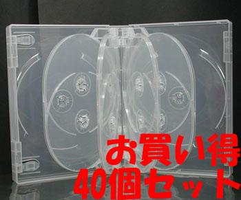 業務用 35mm厚10枚収納DVDトールケースクリア 40個