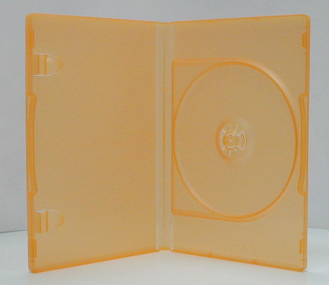 ポップマンボウ DVDトールケース マンダリンオレンジ 1枚収納 100個