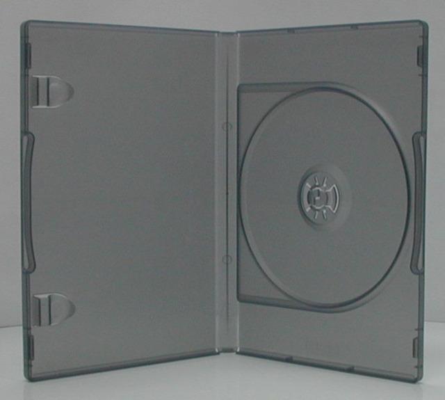 ポップマンボウ DVDトールケース ブラックスケルトン 1枚収納 1個