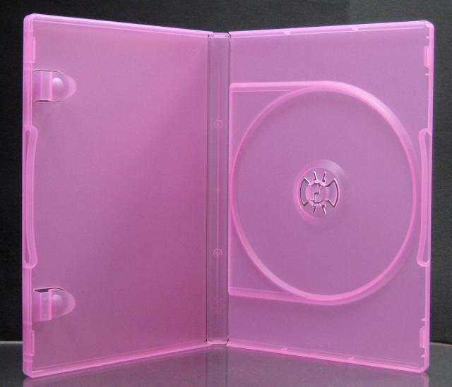 ポップマンボウ DVDトールケース ピーチ 1枚収納 50個