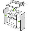 【取付工事対応】 UKR-U603 リンナイ ビルトインオーブン 自立ユニット 後板固定タイプ 奥行550mm対応