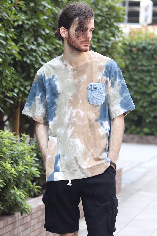 COOKJEANS クックジーンズ デニムポケットタイダイ半袖Tシャツ(Men's/メンズ)