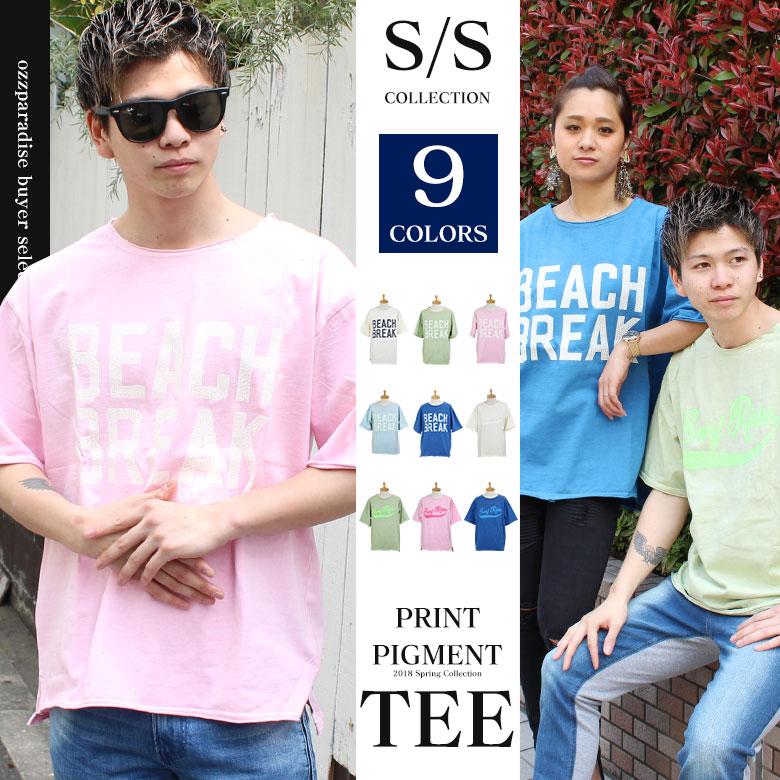 ピグメント プリント 半袖 Tシャツ(men's/メンズ)
