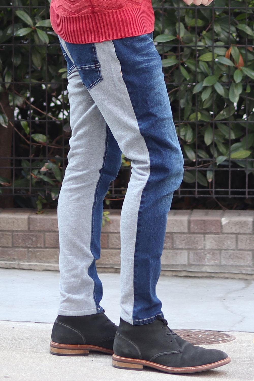 COOKJEANS クックジーンズ 2トーン デニム パンツ (Men's/メンズ)