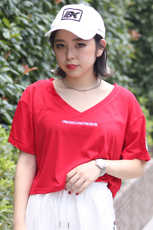 BACKS バックス デニムワッペン ショート 半袖Tシャツ(Lady's/レディース)