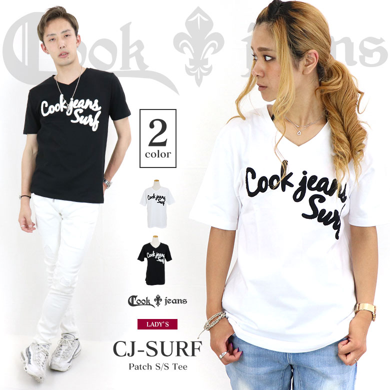 COOKJEANS クックジーンズ プリント 半袖 Tシャツ(Lady's/レディース)