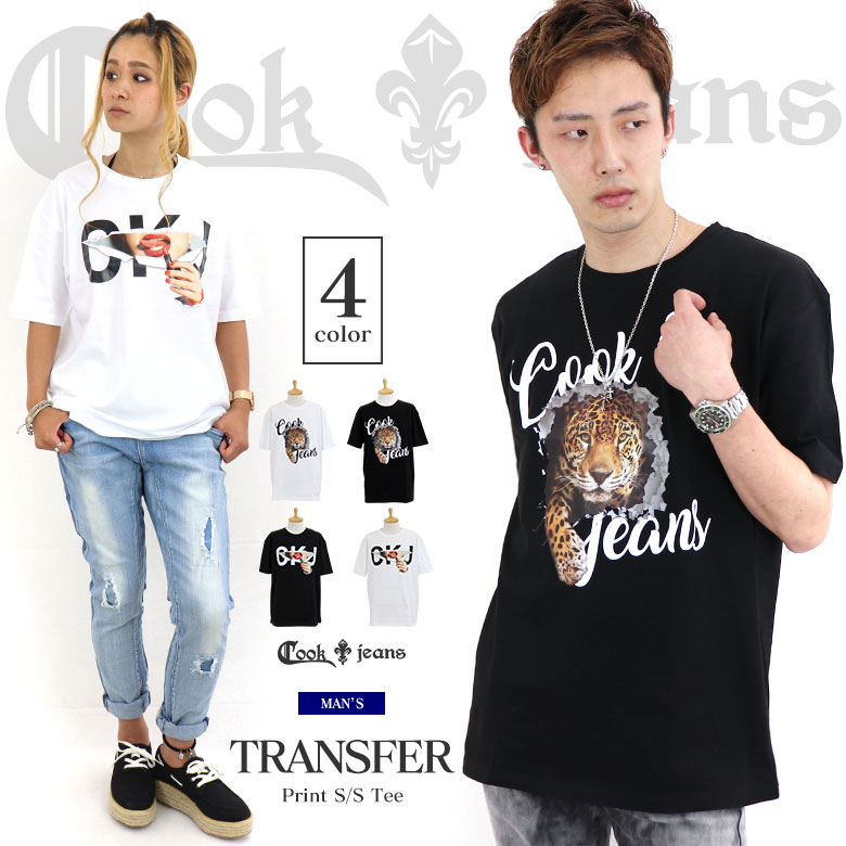 COOKJEANS クックジーンズ プリント 半袖 Tシャツ(men's/メンズ)