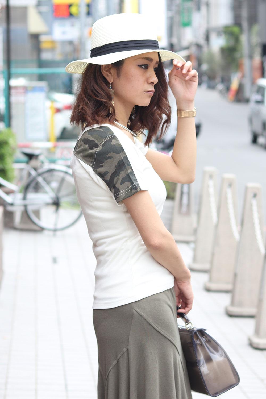 COOKJEANS クックジーンズ スムース カモ迷彩Tシャツ(Lady's/レディース)