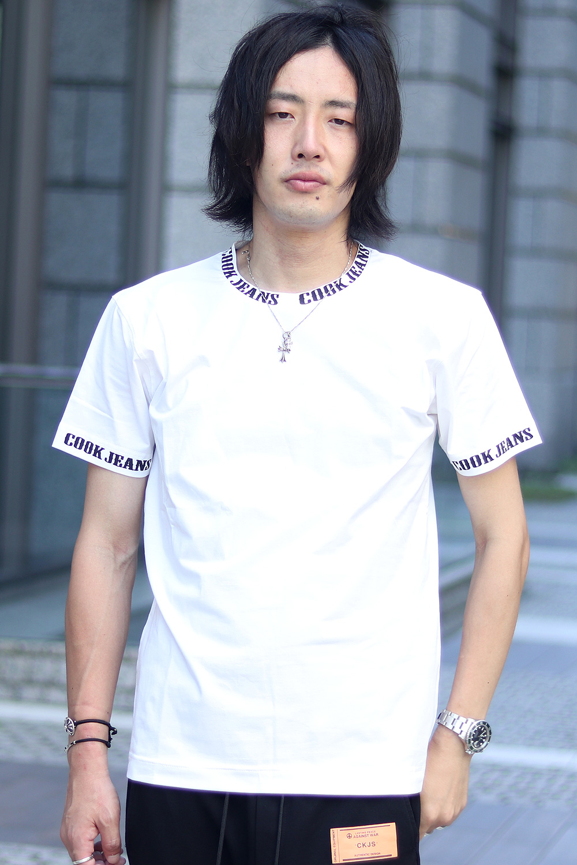 COOKJEANS クックジーンズ ロゴ プリント ベア天竺 Tシャツ (men's/メンズ)