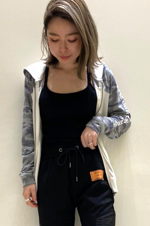 COOKJEANS クックジーンズ 迷彩 切り替え ジップパーカー(Lady's/レディース)