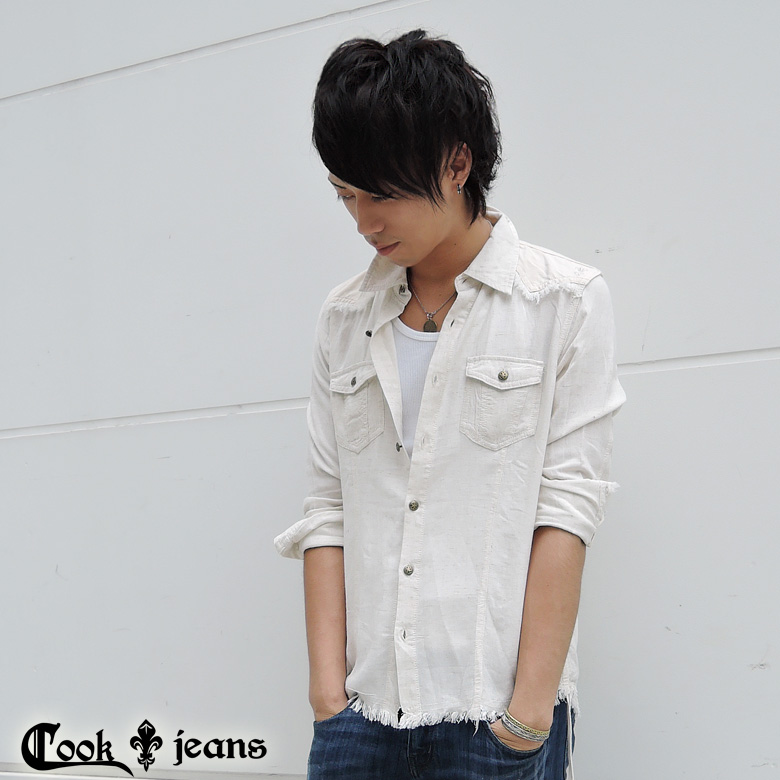 【COOKJEANS/クックジーンズ】SAFARIシャツ(men's/メンズ)