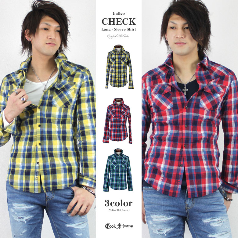 【45%OFF】【COOKJEANS/クックジーンズ】インディゴ チェック シャツ(men's/メンズ)