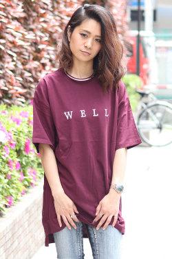 COOKJEANS クックジーンズ オーバーサイズ ロング丈Tシャツ(Lady's/レディース)