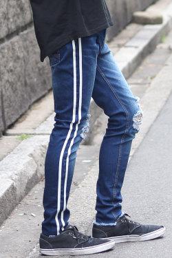 COOKJEANS クックジーンズ 2ラインデニムパンツ(Men's/メンズ)