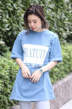 BACKS バックス ビッグシルエットボックスロゴTシャツ (Lady's/レディース)