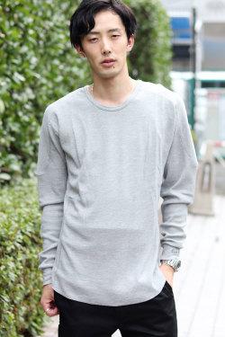 COOKJEANS クックジーンズ ワッフル長袖Tシャツ(men's/メンズ)