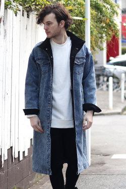 COOKJEANS クックジーンズ デニム ボンディング コート 裏起毛 メンズ(Men's/メンズ)
