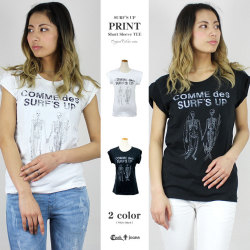 【41%OFF】【COOKJEANS/クックジーンズ】SURF'S UP Tシャツ 半袖 Tシャツ プリント サーフ (Lady's/レディース)