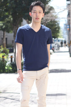 COOKJEANS クックジーンズ Vネック Tシャツ(Men's/メンズ)