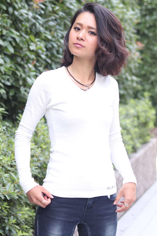 COOKJEANS クックジーンズ フライス ロンT 長袖Tシャツ (Lady's/レディース)