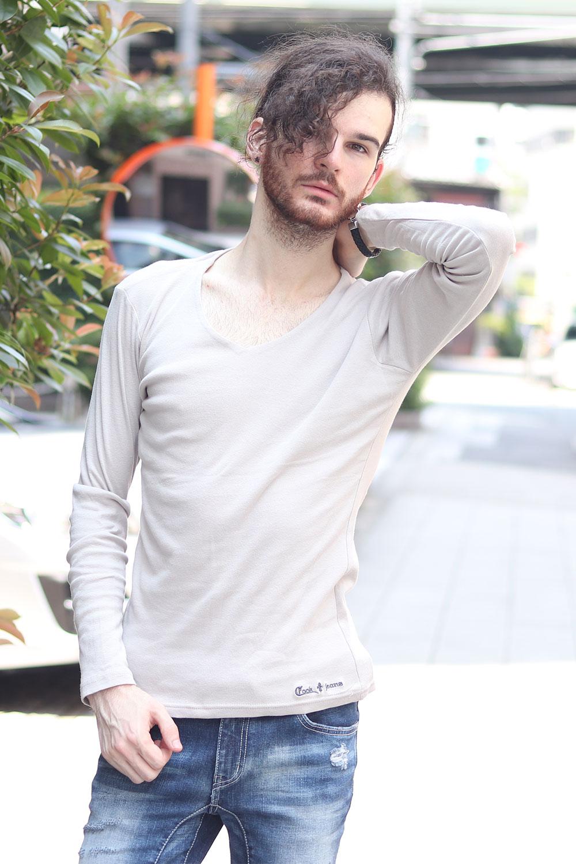 【メール便可】 ★ COOKJEANS クックジーンズ フライス 長袖Tシャツ ロンT(men's/メンズ)