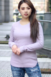 長袖 サーマル ワッフル Tシャツ (Lady's/レディース)
