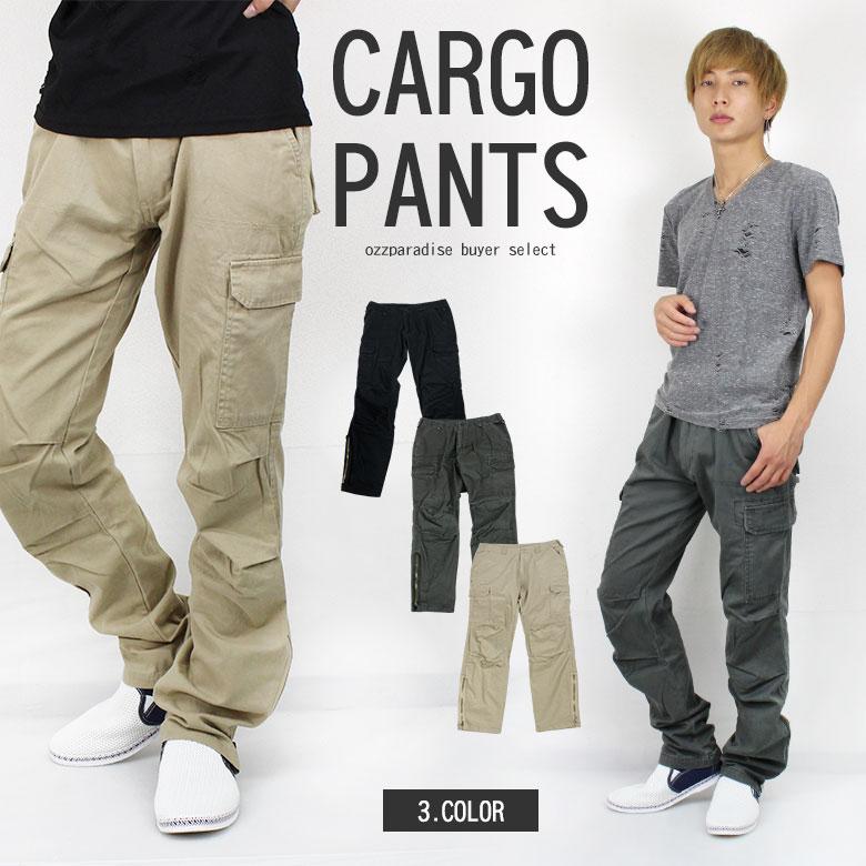 【30%OFF】 カーゴパンツ メンズ zip ミリタリー ワークパンツ (men's/メンズ)