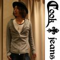 【COOKJEANS/クックジーンズ】カシミア混ジップパーカー(men's/メンズ)