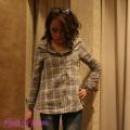 【COOKJEANS/クックジーンズ】Wガーゼ2WAYチェックシャツ(ladie's/レディース)